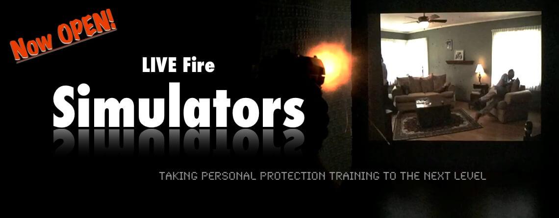 live fire simulators at double action gun shop